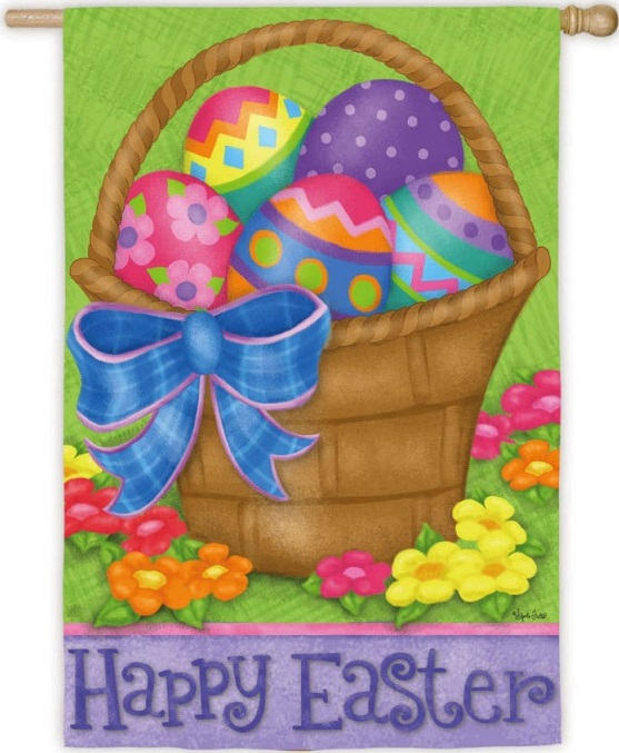 Happy Easter Basket Banner