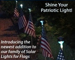 U.S. Stick Flag with solar light